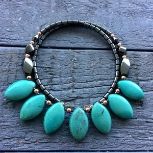 American Indian turquoise & Hematite necklace